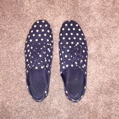 Gap navy and white polka dot oxfords Super comfy and lightly worn. GAP Shoes Flats & Loafers