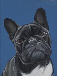 French Bulldog , Frenchie , Bulldog , Pet Portrait , Jeroen Teunen , Teunen , The Dog Painter