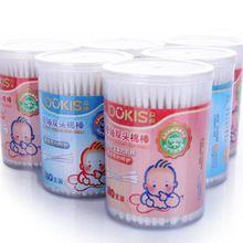 180 unidades/pacote do bebê do algodão duplo End cotonete vara fina criança algodão cotonete infantil ouvido , nariz limpo cotonetes(China (Mainland))