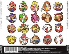 Back cover of the Japanese official soundtrack CD for Mario Hoops Super Mario Bros Games, Super Mario And Luigi, Super Mario Art, Super Mario Brothers, Mario Bros., Mario Party, Super Smash Bros, Metroid, Videogames