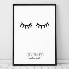 Poster ou Tela MDF - Close Your Eyes - Decohouse