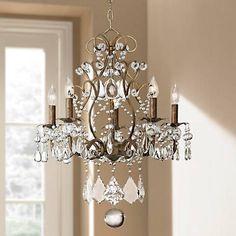 Jolie Five Light Crystal Beaded Chandelier - #52240 | Lamps Plus