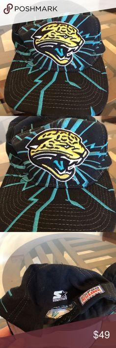 low priced 4bbb8 6bc2a Vintage Jacksonville Jaguars Starter Hat Cap Vintage Jacksonville Jaguars  Pro Line Starter Shockwave Lightning Hat