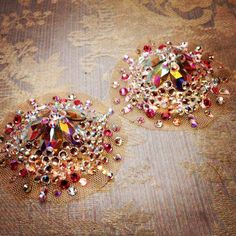Illusion burlesque pasties nipples covers by HollyDaiBoutique