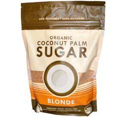 Sweet Tree, Organic Coconut Palm Sugar, Blonde, 16 oz (454 g) - iHerb.com. Bruk gjerne rabattkoden min (CEC956) hvis du vil handle på iHerb for første gang. Da får du $5 i rabatt på din første ordre (eller $10 om du handler for over $40), og jeg blir kjempeglad, siden jeg får poeng som jeg kan handle for på iHerb. :-)