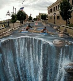 3-D sidewalk art