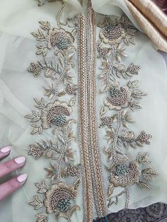 You can access more content by visiting the site. Zardosi Embroidery, Embroidery On Kurtis, Pearl Embroidery, Hand Embroidery Dress, Kurti Embroidery Design, Bead Embroidery Patterns, Couture Embroidery, Embroidery Suits, Embroidery Fashion