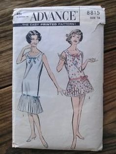 Check out this item in my Etsy shop https://www.etsy.com/listing/243957690/vintage-1960s-pattern-nightie-playsuit