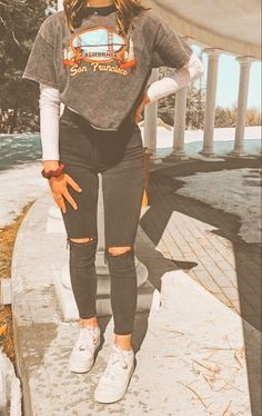 Teen Fashion Outfits, Retro Outfits, Cute Fashion, Look Fashion, Outfits For Teens, Stylish Outfits, Fall Outfits, Casual School Outfits, Trendy Summer Outfits
