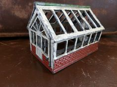 Britains? John Hill ? Vintage Lead Green House Shed Garden Farm Miniature Toy in…