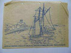 vintage chocolat tobler nautical embroidery transfer