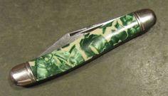 Vintage Hammer Brand USA Serpentine Jack Carbon Steel Old Hunt Fish Pocket Knife #HammerBrand