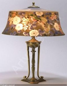 Thomas Kinkade A Light In The Storm Reverse Painted Lamp