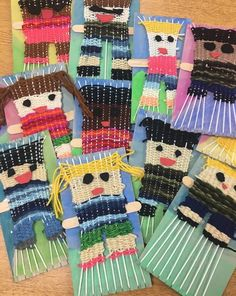 From: @paintbrushesarethirsty 2nd grade woven portraits