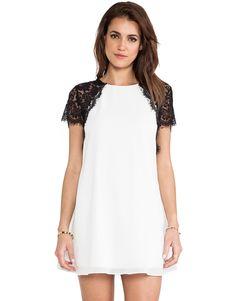 Vestido recto combinado encaje-blanco 13.55