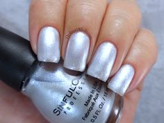 Sinful Colors - Out of this world Not my favorite, should try with stamping Shellac Nail Polish, Silver Nail Polish, Sinful Colors Nail Polish, Gel Manicure Nails, Silver Nails, Diy Nails, Nail Colors, Manicures, Nail Tattoo