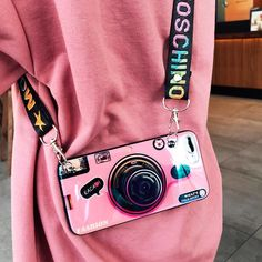 Stop and look at this Vintage camera phone case! It looks like a camera. This is the most fashionable version of the phone case! It will be the perfect addition to your camera collection and a great statement piece! Camera Case, Camera Phone, 3d Camera, Pink Camera, Girly Phone Cases, Iphone Cases, Pink Iphone, Iphone 11, Coque Iphone 7 Plus