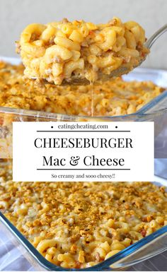Cheeseburger Mac and Cheese! This recipe for cheeseburger mac and cheese sounds so amazing! For all cheese lovers this is a great idea! Combine ground meat and mac and cheese and you get cheesy heaven! #macandcheese #cheeseburgermacandcheese #easymacandcheese