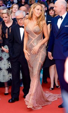 Blake Lively looked stunning in a cut out crystal mesh #AtelierVersace gown enriched by a silk chiffon train entirely beaded with Swarovski crystals. The actress wore this exclusive creation on during the Opening Night Gala of the 69th annual #CannesFilmFestival. #VersaceCelebrities