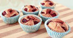 Receta: Magdalenas con chocolate y cerezas FÁCIL y DELICIOSO! #receta