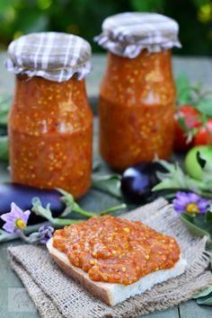 Zacusca de vinete - CAIETUL CU RETETE Veg Recipes, Canning Recipes, Vegetarian Recipes, Healthy Recipes, Recipies, Hungarian Recipes, Russian Recipes, Romania Food, Good Food