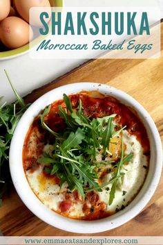 Shakshuka, Moroccan Baked Eggs by Emma Eats & Explores - Grainfree, Glutenfree, Dairyfree, Vegetarian, SCD, Paleo, Whole30, Low Carb