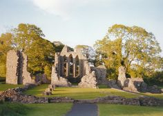 Inch Abbey, N. Ireland.  It is situated on the north bank of the river Quoile near Downpatrick, Co. Down.