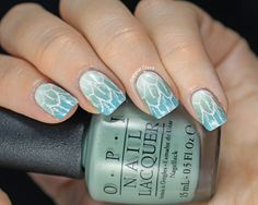 Copycat Claws: Messy Mansion Feather Nail Stamping with OPI gradient