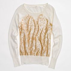 j.crew factory sequin sweatshirt.  I could totally make this.