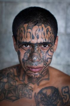 Adam Hinton has photographed the most dangerous places in the world, none more so than El Salvador, where the notorious gang welcomed him gladly into their community and their private prison Cyberpunk, Ms 13 Gang, British Journal Of Photography, The Warden, London Photographer, Face Tattoos, Color Photography, Penny Table, Gang Members