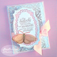 Graciellie Design: Everyday Miracles with Sweet 'n Sassy Stamps - Soft & Delicate Butterfly Card -