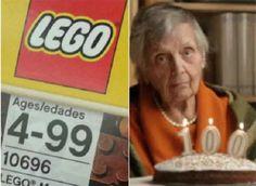 Lo malo de cumplir 100años es que ya no puedes jugar con lego.