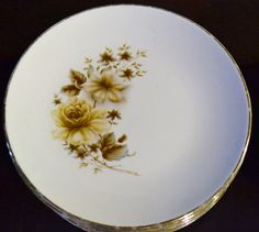 Vintage China Plates and Bowls Brown Floral by PanchosPorch, $15.00