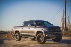 Click this image to show the full-size version. Toyota Tundra Trd, Lifted Tundra, Toyota 4x4, Toyota Trucks, Custom Pickup Trucks, Tacoma Truck, Dream Garage, Offroad, Automobile