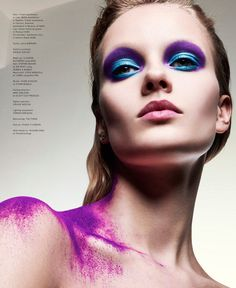 avant garde beauty - Claudia Devlin, Sophie Drake and Georgie Hobday star in Hunger Magazine's avant garde beauty editorial, 'Synaesthesia'. The image...