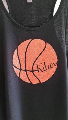 Basketball shirt basketball glitter custom shirt by YoureSuchATees