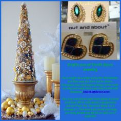 DIY a jewelry tree with your own pieces and ones from the Carousel Shop at 23 Calendar Ave. La Grange, IL