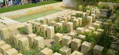 The M&G Garden at Chelsea Flower Show 2017. Inspired by an abandoned Maltese quarry. Designer James Basson.