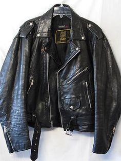 UNIK Womens Black SOFT BIKER Leather Jacket Heavy Duty THINSULATE Lining Medium $35.00