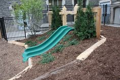 Hill Slide | Gardens - I'm kinda obsessed with this idea. Can you imagine?