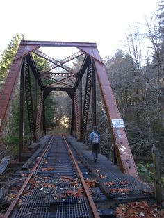 Hike the tracks at The Salmonberry River, Oregon Coast Range.