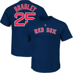 Jackie Bradley Jr. Boston Red Sox Majestic Official Name & Number T-Shirt - Navy - $27.99