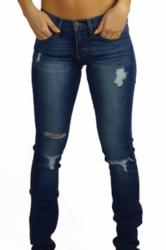 Flying Monkey Heavy Abrasion Jeans Our low-rise heavy abrasion ripped jeans are a closet staple. With soft comfortable denim material you will be wearing these jeans over and over. #destroyedediumwashjeans