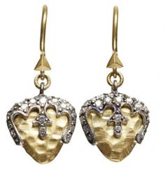 Cathy Waterman Gold Acorn Earrings