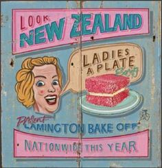 Ladies A Plate by Jason Kelly for Sale - New Zealand Art Prints Tip Top Ice Cream, New Zealand Art, Kiwiana, My Point Of View, Vintage Postcards, Travel Posters, Nostalgia, Typography, Plate