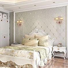 QIHANG European Modern Simple 3D Non-woven Imitation Deerskin Wallpaper Living Room TV Background Diamond lattice Pattern Wall paper Roll 1.73'(0.53m)32.8'(10m)=57 sq.ft(5.3m2) (Light Gray) - - Amazon.com