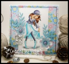 Vixx Handmade Cards: LILI OF THE VALLEY DT POST ~ SNEAK PEEK RETRO GIRLS # 4