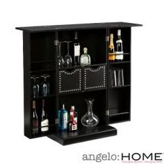 @Overstock - Perfect for entertaining, this Angelo Home fold-away bar features plenty of discreet storage space for all your favorite liquors, glasses, and more. Superbly stylish, yet compact, this home bar features mirrored doors and a gleaming black finish.  http://www.overstock.com/Home-Garden/angelo-Home-Beekman-Black-Fold-Away-Bar/6545641/product.html?CID=214117 $217.84