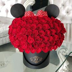 A JLF Classic Minnie Mouse with 75 Roses { 50 rose option also available} #MinnieMouse