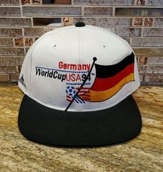 2c1fa950f68 1994 World Cup USA vintage Germany national soccer team snapback hat  Deutschland